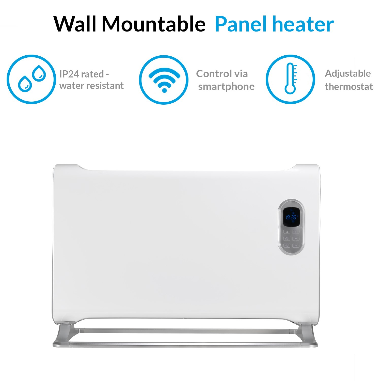 Electriq 1500w Wall Mountable Designer, Bathroom Safe Heater