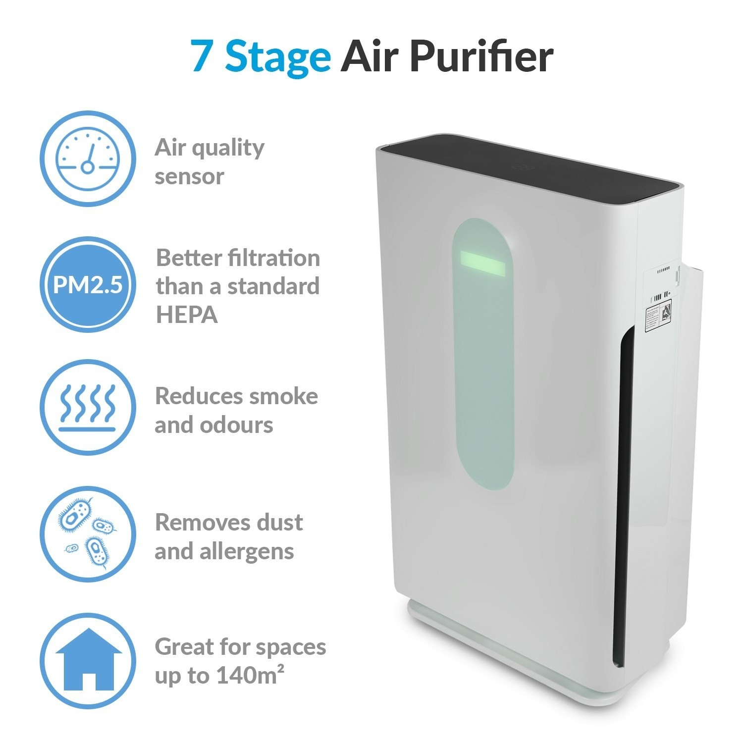 Filter for EAP260HC-PM2.5 Including a HEPA Carbon and Extra PM2.5 Filtration