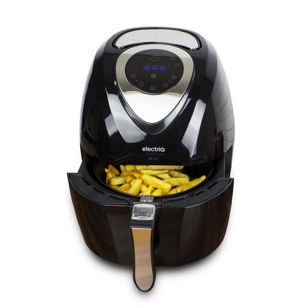 electriQ Digital Health Air Fryer XL 3.2L 1400W with Digital Controls and Divider
