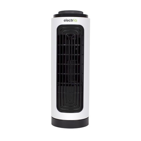 electriQ Slim Tower Fan with Oscillation and 3 speed settings - White
