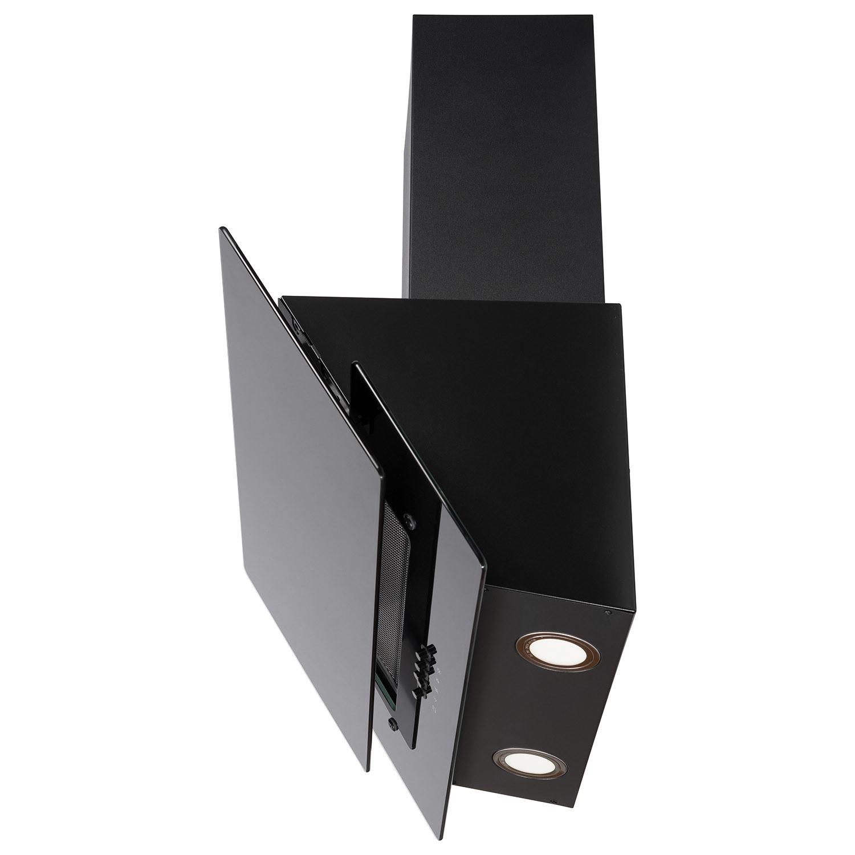 Electriq 60cm Black Glass Angled Chimney Cooker Hood 5 Year Warranty Electriq