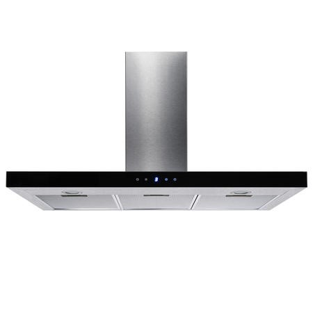 electriQ Slimline Stainless Steel 90cm Cooker Hood with Touch Controls