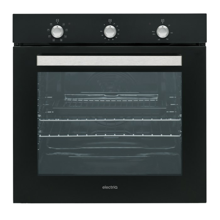 electrIQ Extra Large Capacity 75 litre Built-in Fan-Assisted Single Oven - Supplied with a plug EQBIOLG1