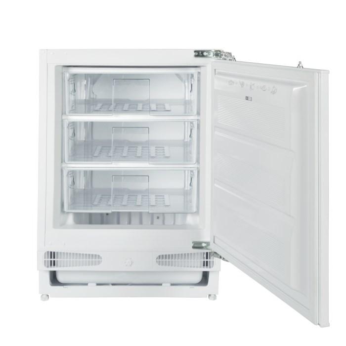 electrIQ 60cm Wide Integrated Upright Under Counter Freezer - White