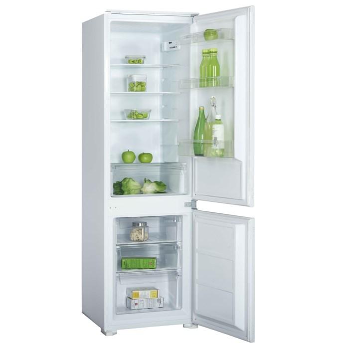 electriQ 54cm Wide 70-30 Integrated Upright Fridge Freezer - White EQINT7030FF