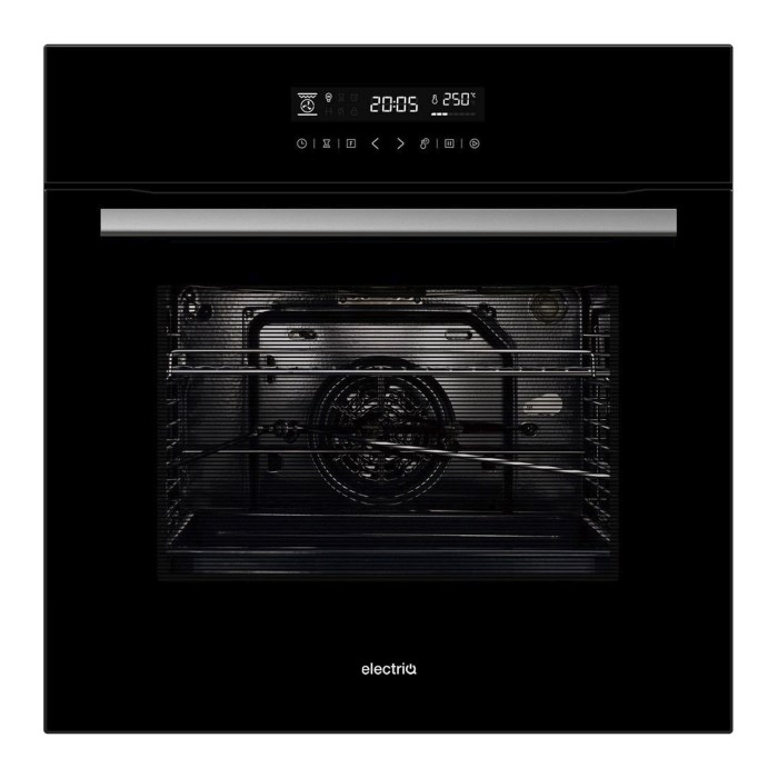 electriQ 65 Litre 9 Function Full Fan Touch Control Electric Single Oven in Black - Supplied with a plug EQOVENM4