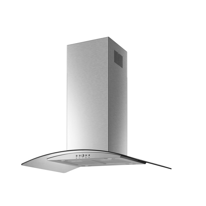electriq 90cm Curved Glass Island Cooker Hood Stainless Steel eiQCURVISL90SS
