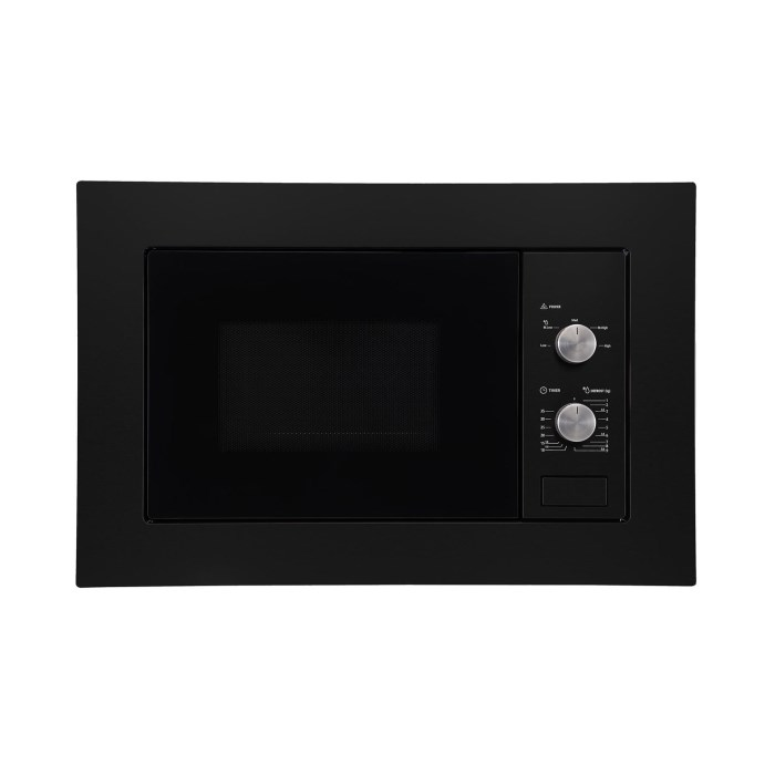 electriQ 20L Built in Standard Solo Microwave in Black