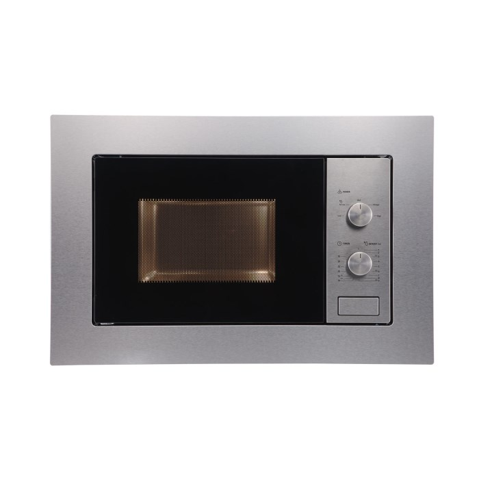 electriQ 20L Built in Standard Solo Microwave in Stainless Steel